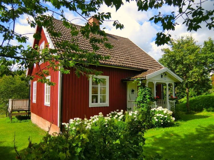 h tte vetlanda s dschweden ferienh user mit see boot. Black Bedroom Furniture Sets. Home Design Ideas