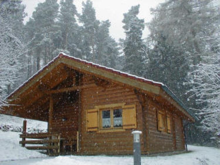 Blockhaus 8 im Winter