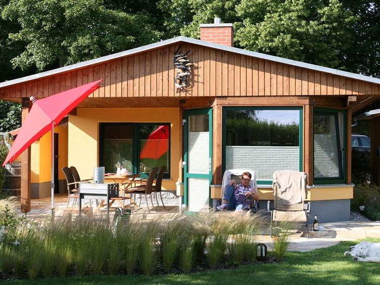Ferienhaus für 4 Personen. 38qm. Wohnfläche. 400qm Alleingrundstück