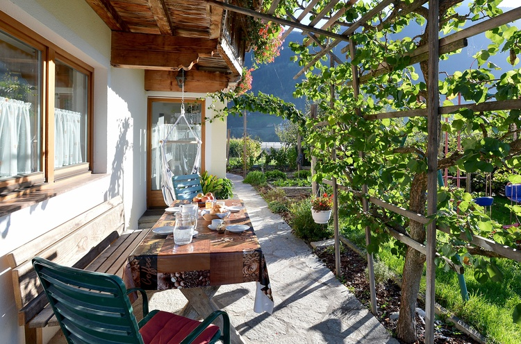 Terrasse Aussicht Ahornspitze