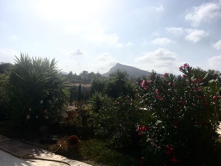 Garten, Blick in die Berge
