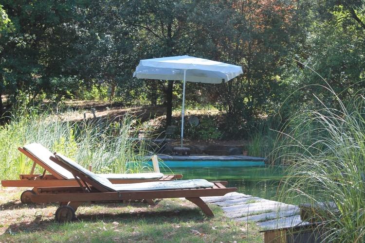chaiselongue near the pool