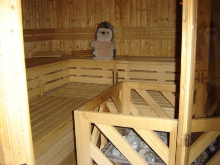 abends die Sauna anwerfen...