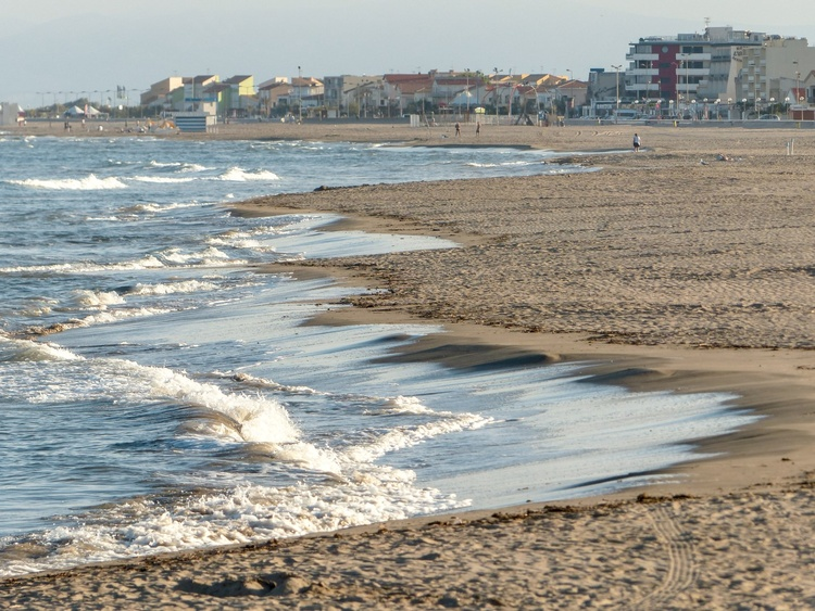 Strand Narbonne-Plage Winter