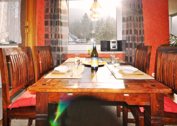 From the breakfast table attracts radiant sun in the fresh Harz air