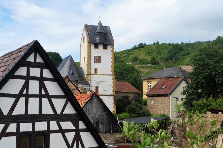 Dorfidylle - Blick von der Terrasse