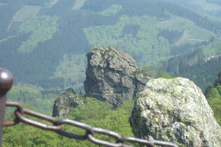 Panonamaaussicht auf das Nationale Naturmonument Bruchhauser Steine