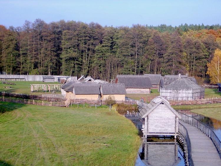 Historic Slav settlement and safari with a camel near Sternberg (13 km)