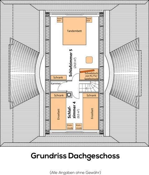 Grundriss obere Etage