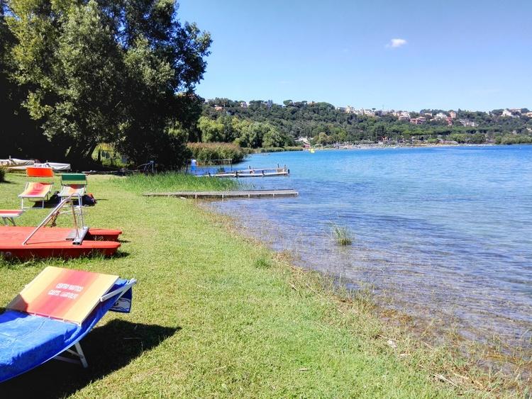 """Bathing at the near lake """"Lago di Albano"""""""