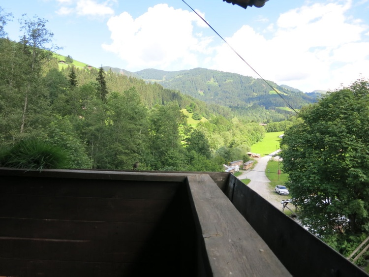 a view from balcony