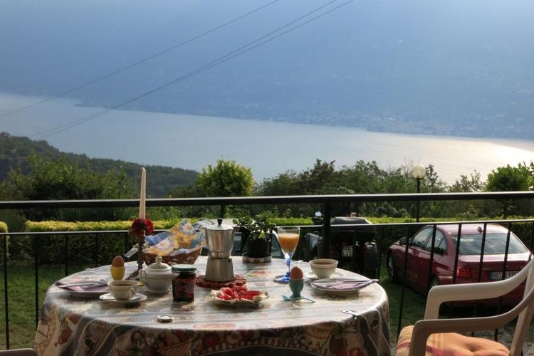 Frühstück mit Seeblick auf dem großen Balkon