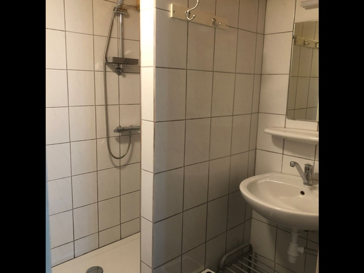 Shower with sink