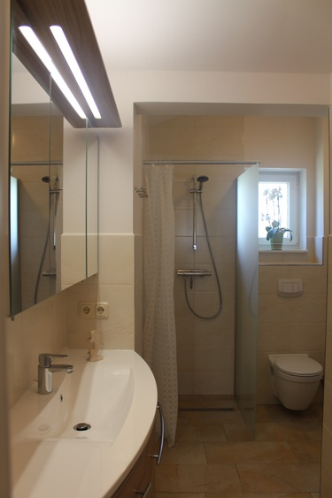 gemütliches Duschbad