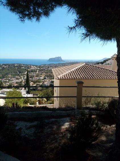 Blick nach Calpe von oberer Terrasse aus