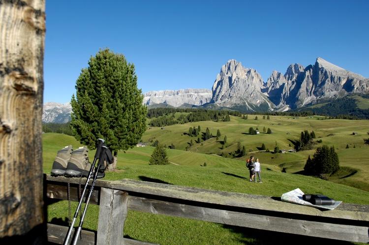Panorama Blick auf der Seiser Alm