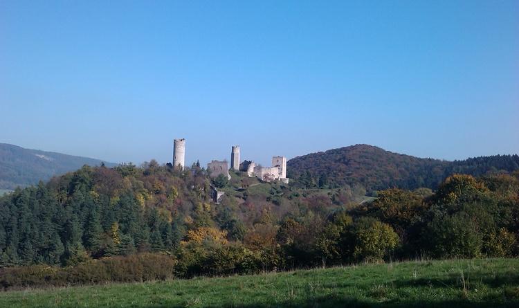 die Burgruine Brandenburg