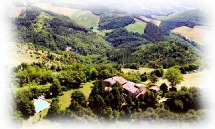The small village of Ca Piero from above