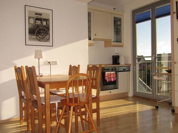 Kitchenette, view from the sofa
