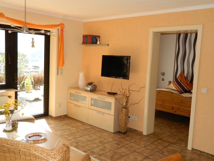 Wohnzimmer in Fewo Weingarten