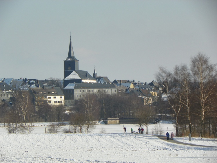 White Lake City in winter