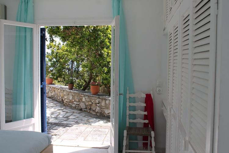 Terrassen Zugang von Türkis Schlafzimmer