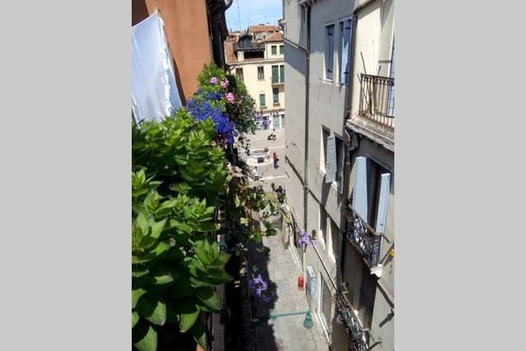 Terrace view on the street leading to Campo Sant'Aponal