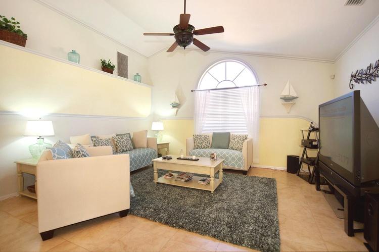 Wohnzimmer der Ferienvilla in Cape Coral, FL