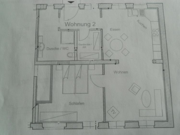 Grundriss WG 2