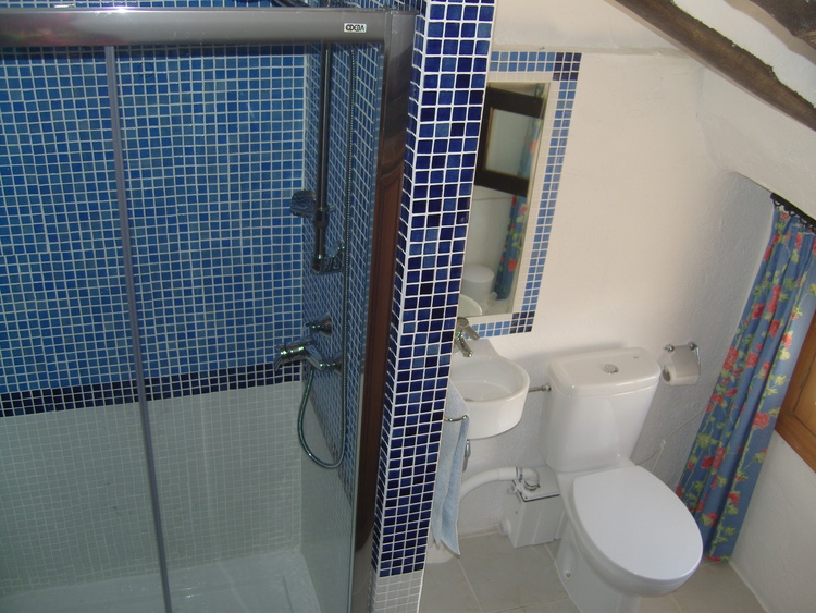 Attic Bedroom En-suite Consisting Of Large Walk In Shower, WC And Washbasin