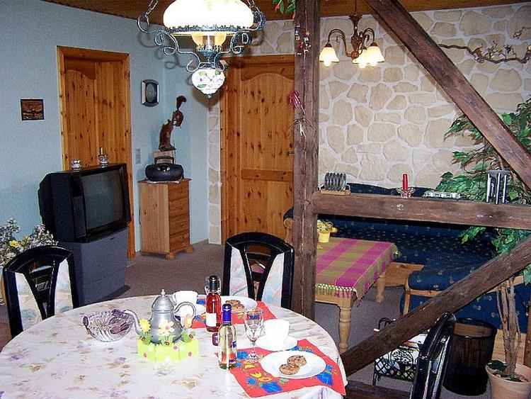 Kitchen (TV is now flat screen), left bedroom, straight bath