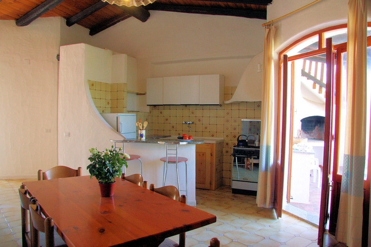 Kitchen and living room Sa Fiorida Sardinia