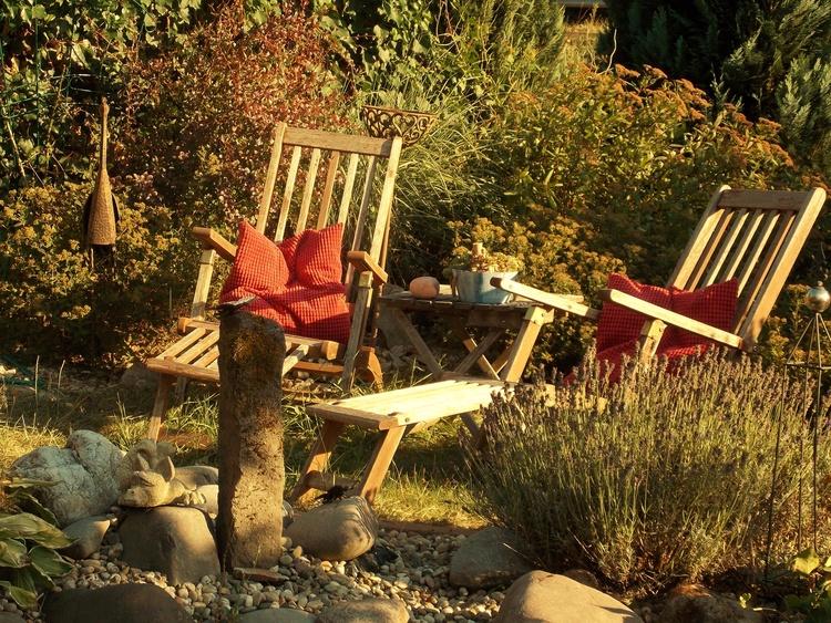 Entspannung pur in unserer kleinen Gartenoase