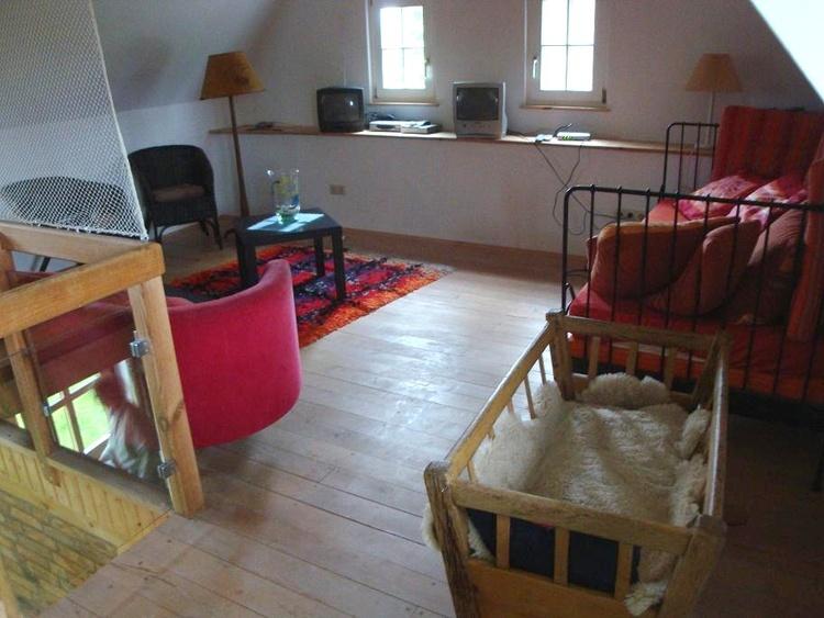 offenes Wohnzimmer im Obergeschoss