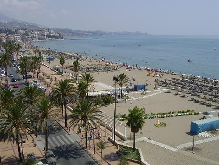 our nice sandy beach only few minutes for a walk away from the house with many typish spanish bars