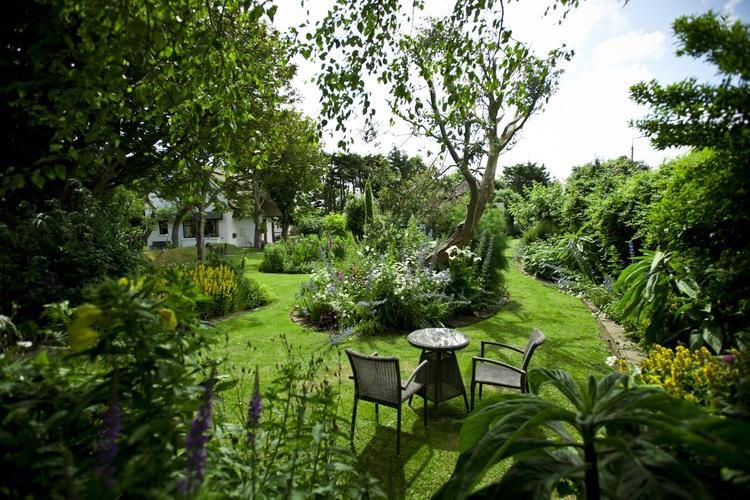 Picturesque organic flower gardens.