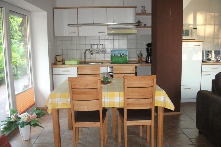 Die Wohnküche der Wohnung Gartenblick
