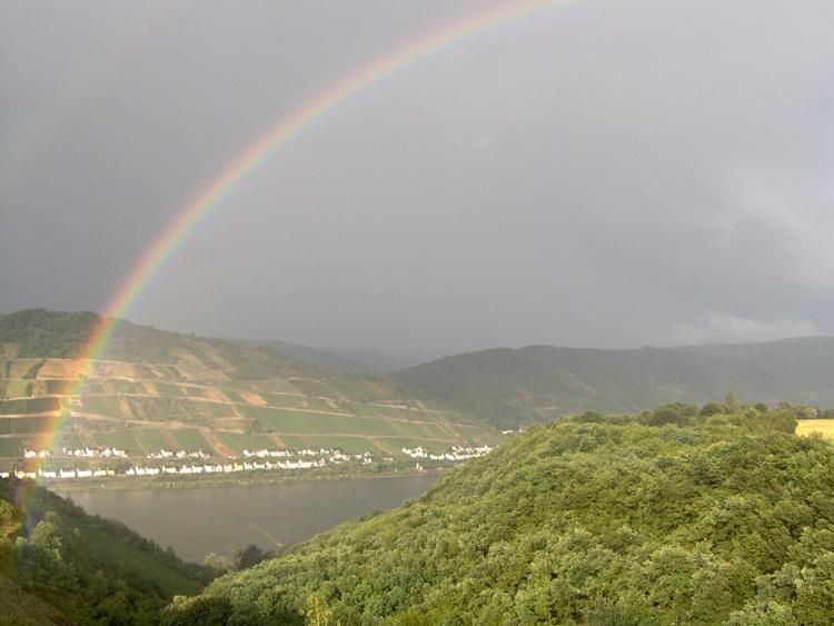 Rhineview with rainbow