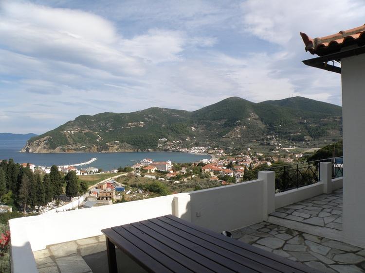 Aussicht vom Terrassenesstisch