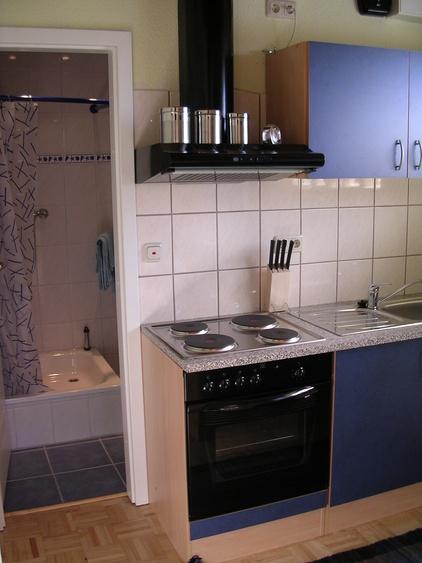 Küche und Dusche