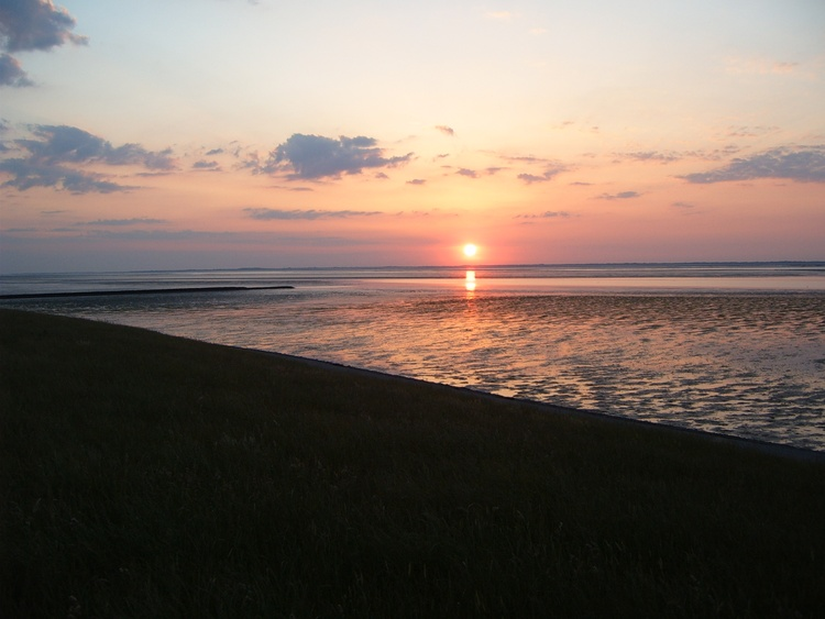 herrlicher Sonnenuntergang über Langeooge