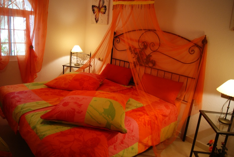 large bedroom with big double bed + 1 large single bed, tv, aircondition...