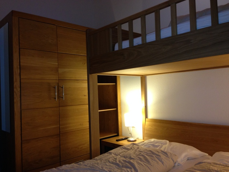 High sleeper in one of the bedrooms with double bed
