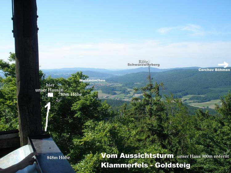 Aussichtsturm Klammerfels (Hausberg)