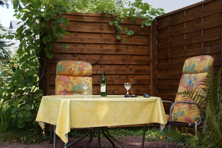 Der Sitzplatz im Garten
