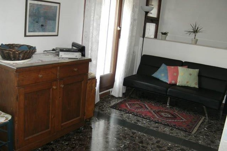 Central living room with sofa bed