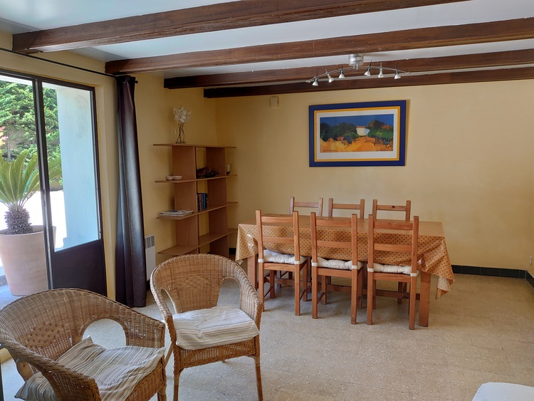dinner table in living room