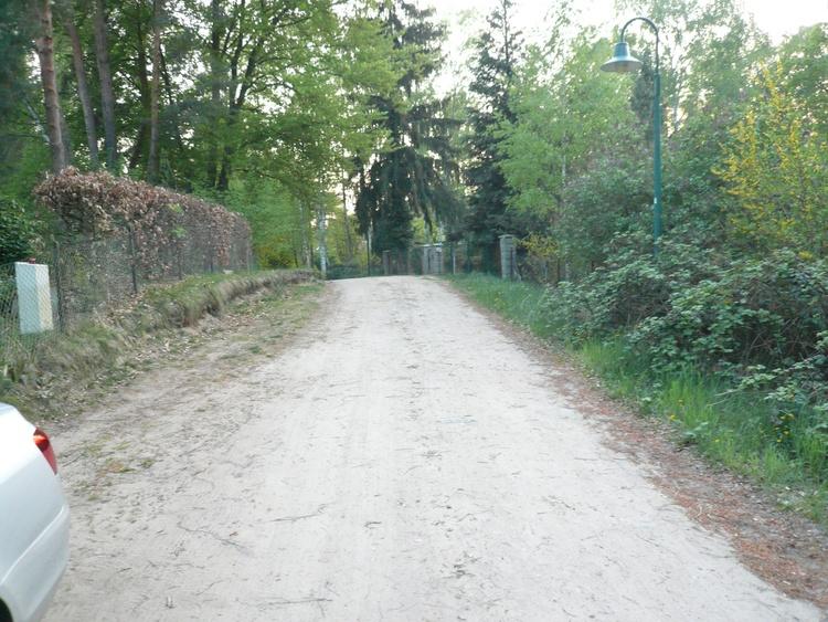 Die Perwenitzer Strasse ist noch ein Sandweg