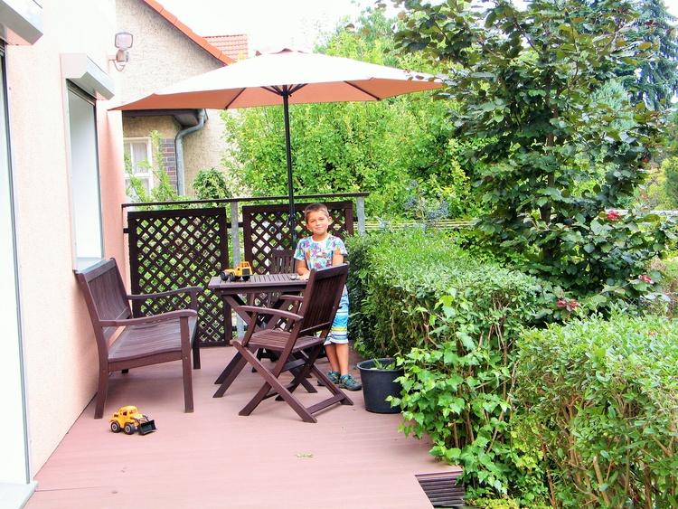 Terrasse am EG-Wohnraum
