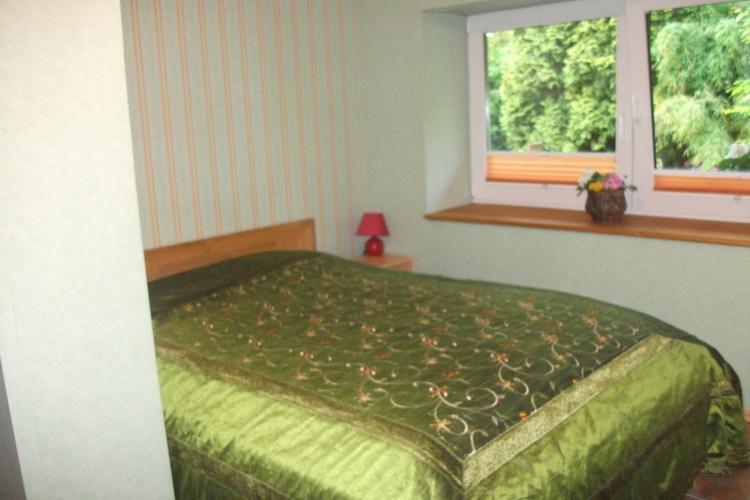 Das Schlafzimmer der Wohnung Gartenblick
